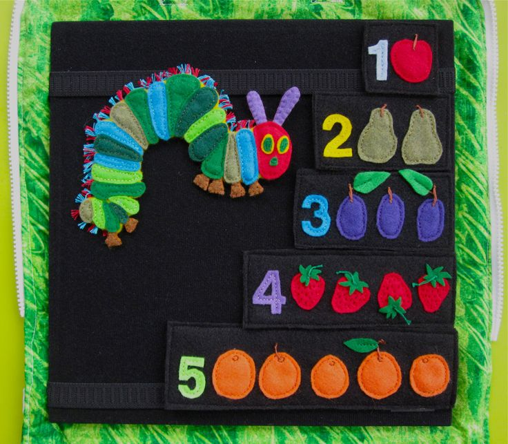 Imagine Our Life: Very Hungry Caterpillar quiet book page: