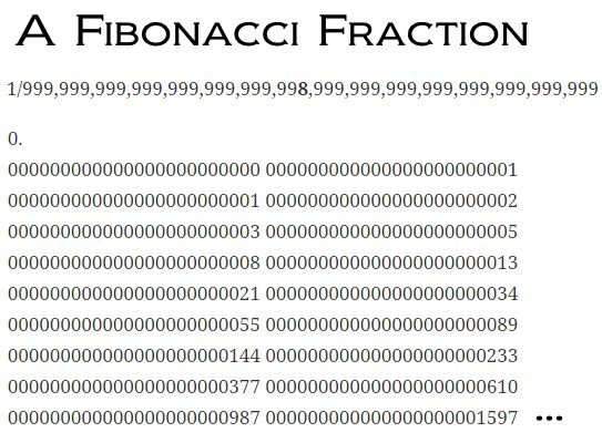 fibonacci fraction