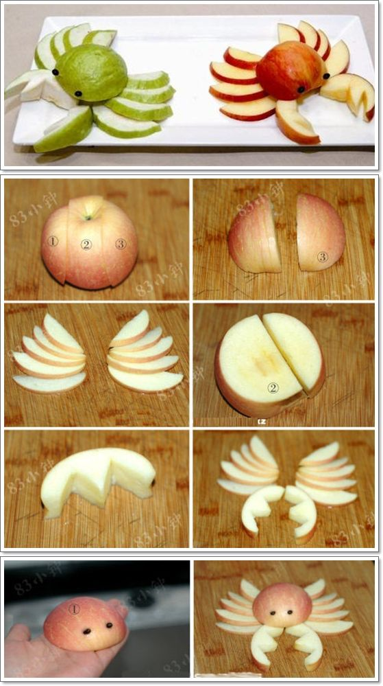 DIY Fruit Art Series – 5 Apple Cut Tutorials | www.FabArtDIY.com LIKE Us on Facebook ==> https://www.facebook.com/FabArtDIY --- http://tipsalud.com -----