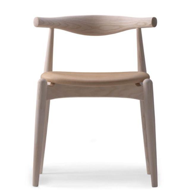 Hans J. Wegner CH 20 Stol Elbow Chair Såpad Ek/VIKING strå 500 - danskdesign.nu