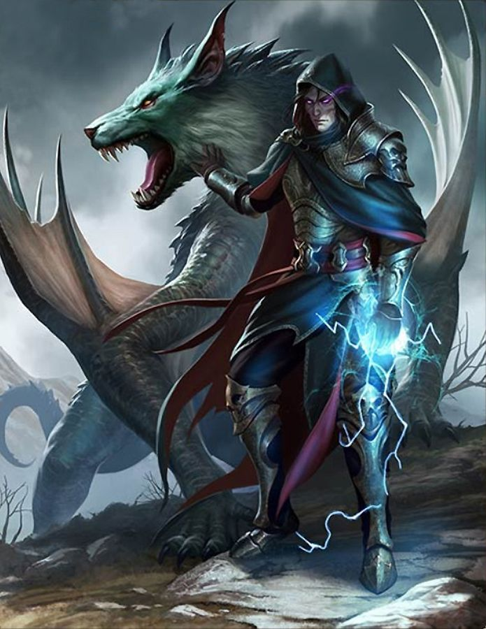 mage and dragon | NOT OUR ART - Please click artwork for source | WRITING INSPIRATION for Dungeons and Dragons DND Pathfinder PFRPG Warhammer 40k Star Wars Shadowrun Call of Cthulhu and other d20 roleplaying fantasy science fiction scifi horror location equipment monster character game design | Create your own RPG Books w/ www.rpgbard.com