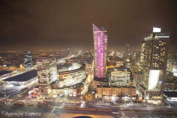 Warszawa, panorama na centrum miasta , Poland