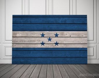 The Original Honduras Flag Triptych by Austinspire on Etsy
