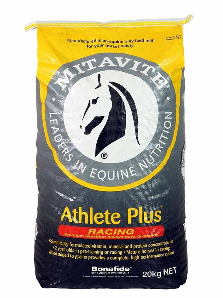 Athlete Plus™ | Mitavite  #mitavite #horsefeeds #horses #equine #equestrian #athleteplus #racefeed #thoroughbred #standardbred #2yearoldsinwork #3yearoldsinwork #doesnotcontainoats #concentrate #addgrains #typingup #bonafide #muesli #aminoacid #nutrients #traceminerals #electrolytes #rapidreplenishment #aidrecovery #musclerepair #fastwork #racing #choiceofchampiontrainers #athlete