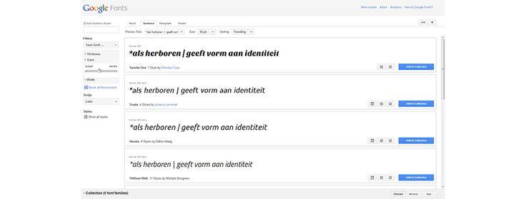 Google fonts gebruiken op je website - Blog | grafische vormgeving, webdesign