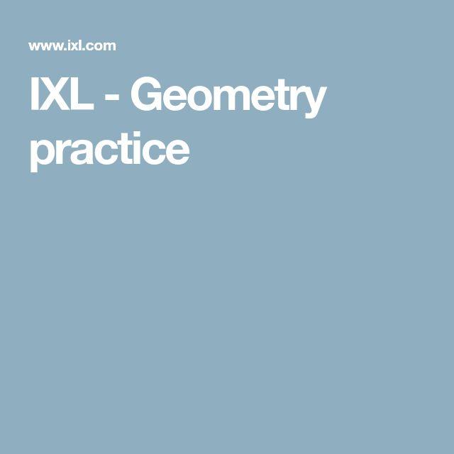 IXL - Geometry practice