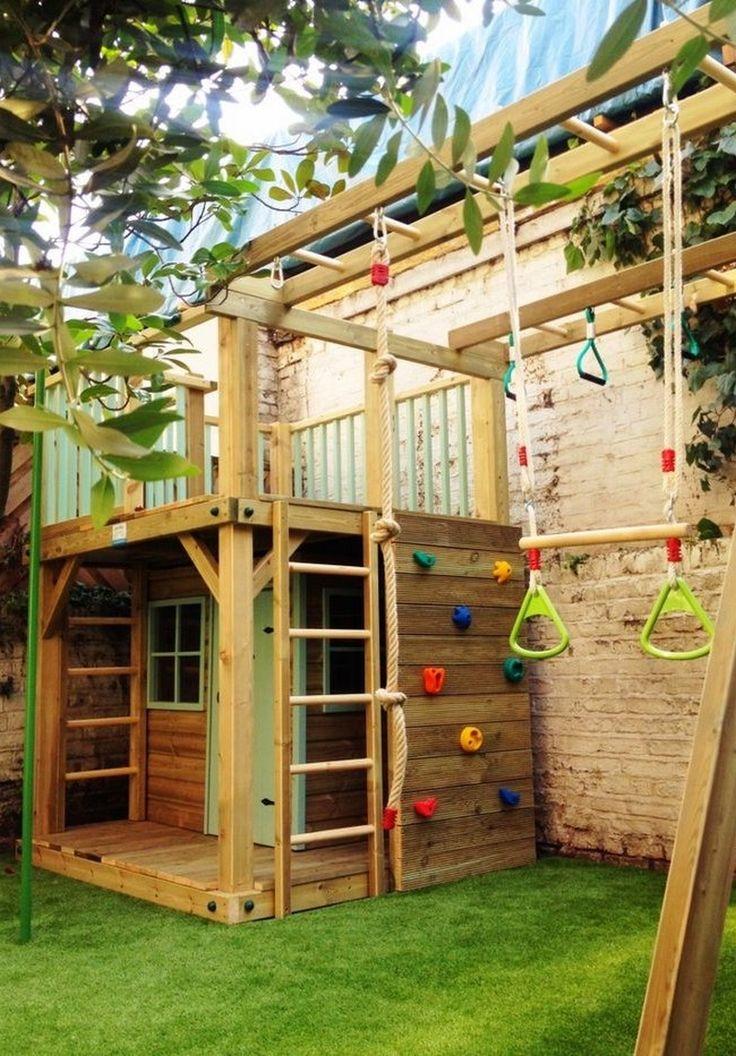 Полный Детская площадка на даче своими руками: игровая, спортивная (100 Фото)
