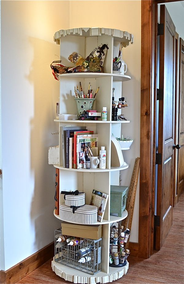 DIY Revloving Bookcase Country Design Style