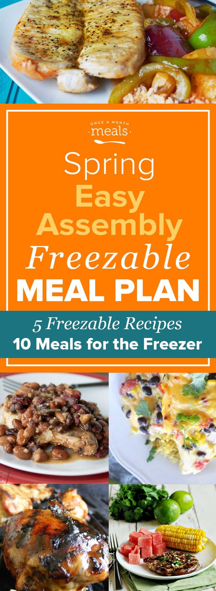 Short on time and low on freezer meals? Use this spring inspired Easy Assembly Mini Menu to stock up on some scrumptiously simple dinners. From sweet and sour pork chops to slow cooked southwestern chicken, bright flavors and bold tastes await your family table.