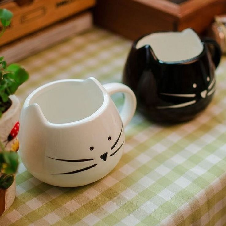 Прямая поставка! Быстрая доставка! Любители кофе чашка черный и белый кот кружка молока керамическая напиток кружка симпатичные Drinkware творческие подарки купить на AliExpress