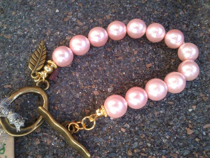 Pink mother of pearl with Brass accents... Made by ME!
