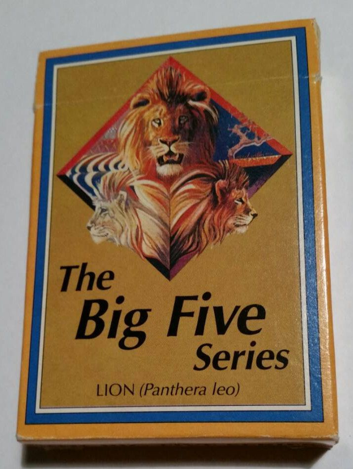 """Vintage Republic Of south Africa Playing Cards The Big Five Series """"Lion"""" By Protea Playing Card Company Original """"Old"""" The Big Five Series by OnyxCollectables on Etsy"""