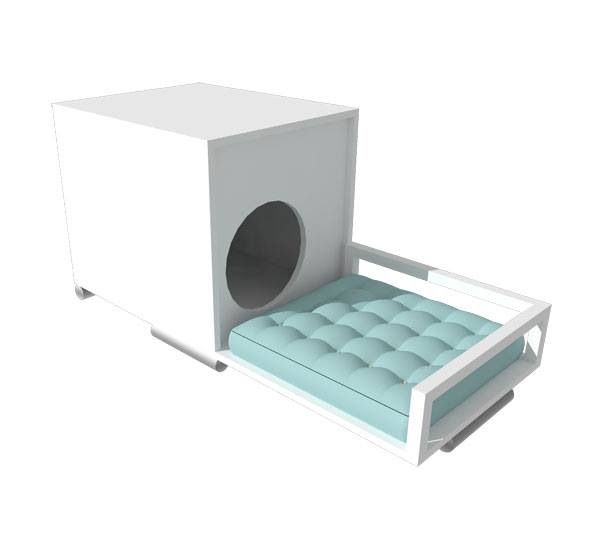 [the dog box] by Simpli Decor! Awesome pet bed with lounger extension