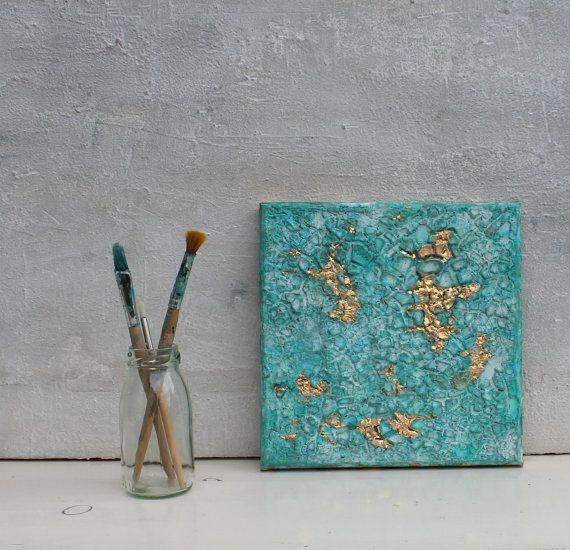 Blattgold Malerei 18 Versandkostenfrei Abstrakte von AtelierMaltopf