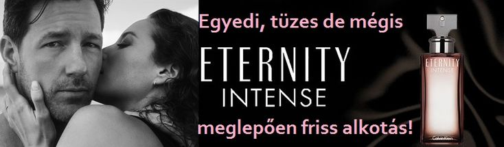 """Calvin Klein Eternity Intense női parfüm  Egyedi, tüzes de mégis meglepően friss alkotás!  Calvin Klein Eternity (1988) és Eternity for Men (1989), az örök szerelem és a romantikus kapcsolat szimbóluma, Az alapműnek új és intenzív újraértelmezése az Eternity Intense és az Eternity for Men Intense, mely illatpáros 2016. decemberében jelent meg. Az új illatok """"érzéki és egyedi az illatösszetevőinek köszönhetően. Az Eternity Intense duó a """"fokozódó szeretet érzésével indít, mely átalakul és…"""