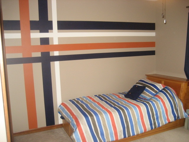 """""""plaid"""" wall in Emmett's room! LOVE how it turned out ..."""