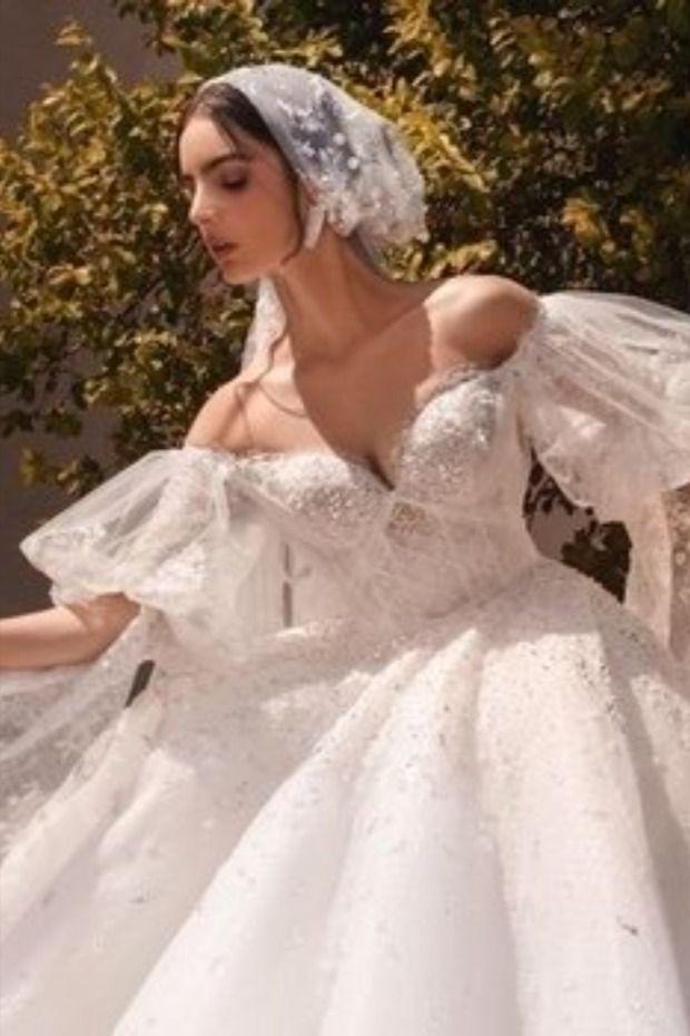 فساتين الأفراح بصيحة الأكمام المنفوشة لإطلالة مميزة بحفل زفافك Wedding Dresses Dresses Sleeveless Wedding Dress