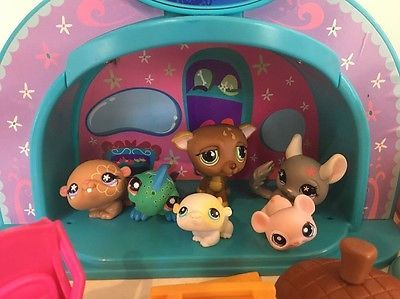 LOT of 6 LPS Littlest Pet Shop Animales Y Accesorios De Alimentos