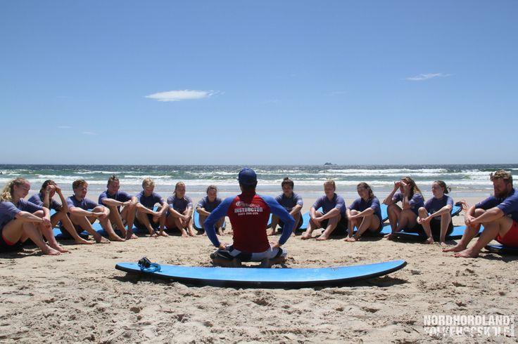 Surfing, Australia, Nordhordland Folkehøgskole