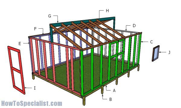 12×16 Greenhouse Plans - Free PDF Download | Greenhouse ...