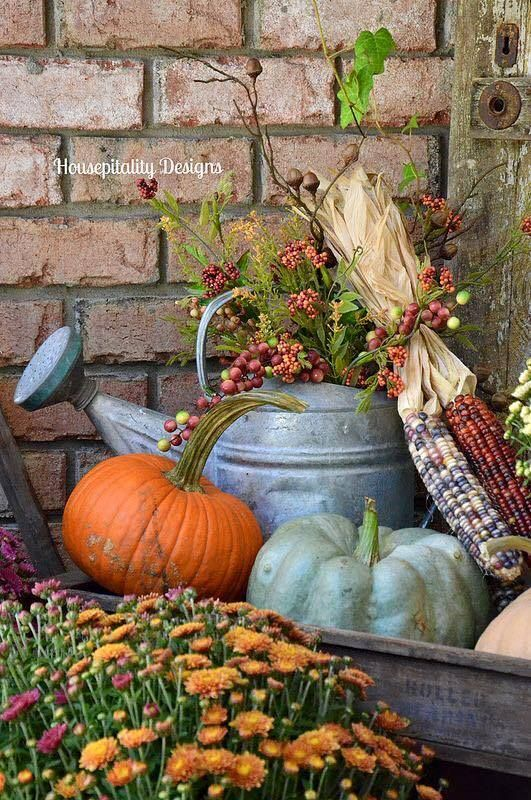 712 best fall is for planting your porch images on Fall outdoor decorating with pumpkins