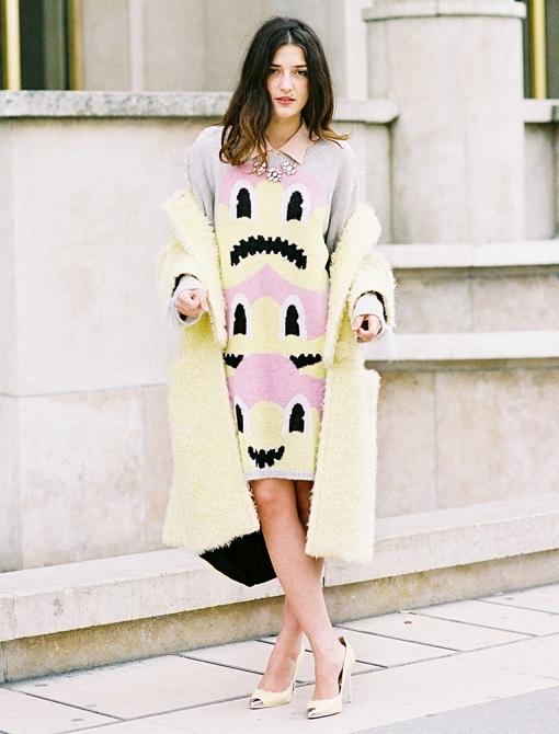 Happy dress!Vanessa Jackman, Aw 2012Eleonora, Aw 2012 Eleonora, Street Style, Dresses, Furries Fashionista, Paris Fashion Weeks, Eleanor Carisi, Weeks Aw