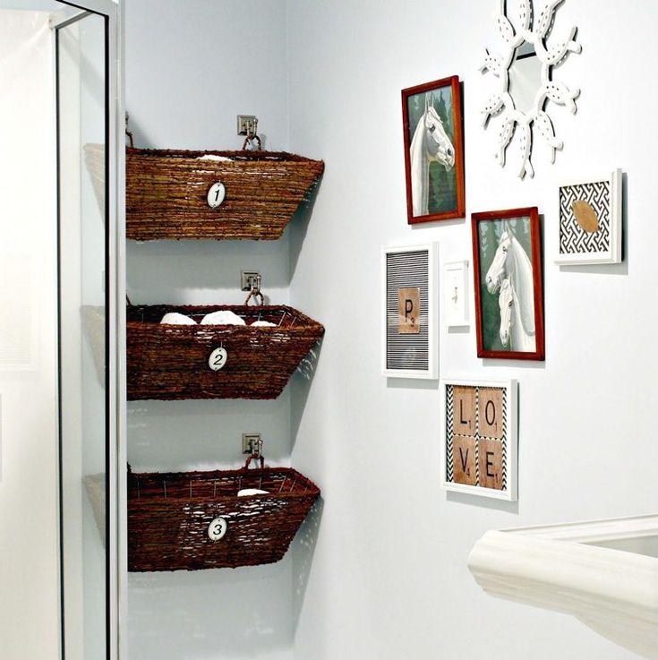 ideen f r aufbewahrung weidenk rbie als deko und stauraum einrichten und wohnen pinterest. Black Bedroom Furniture Sets. Home Design Ideas