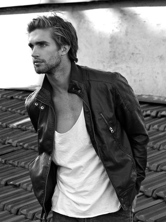 men's leather jacket - Tristan Burnett