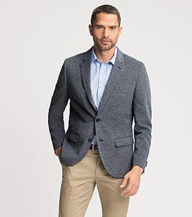 C&A 39,90€ CORTE ESTRECHO Americana Hombre Americanas y chalecos en azul oscuro-jaspeado –  al mejor precio en C&A