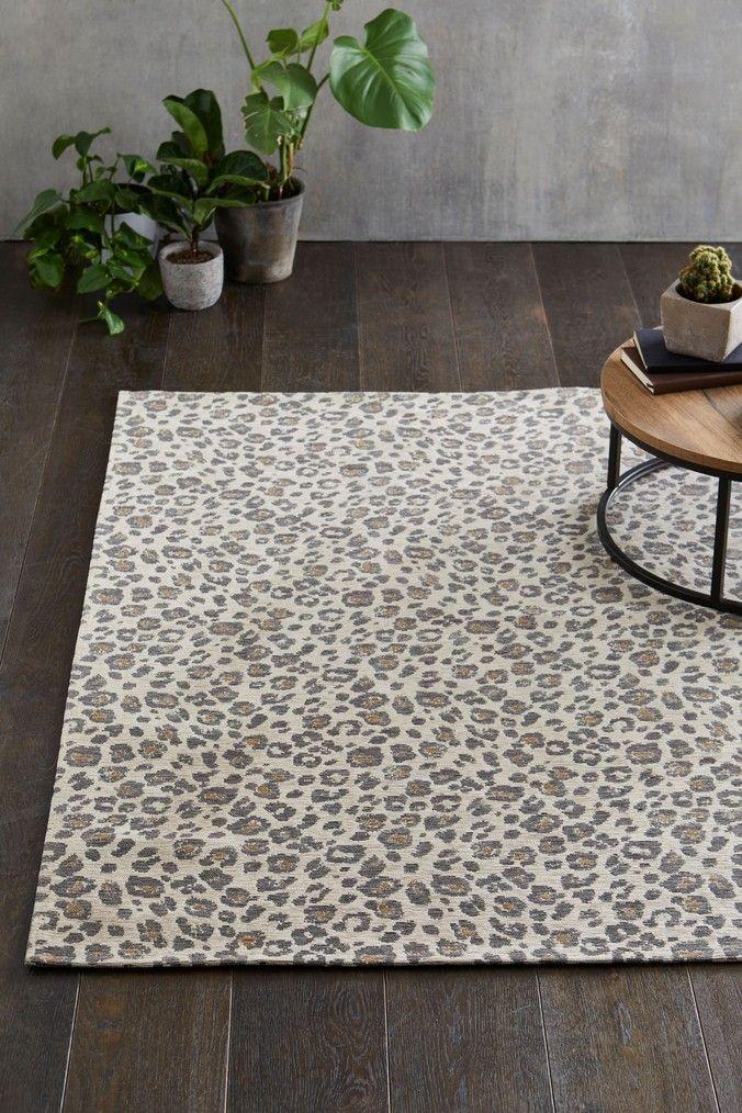 Next Leopard Print Rug Cream