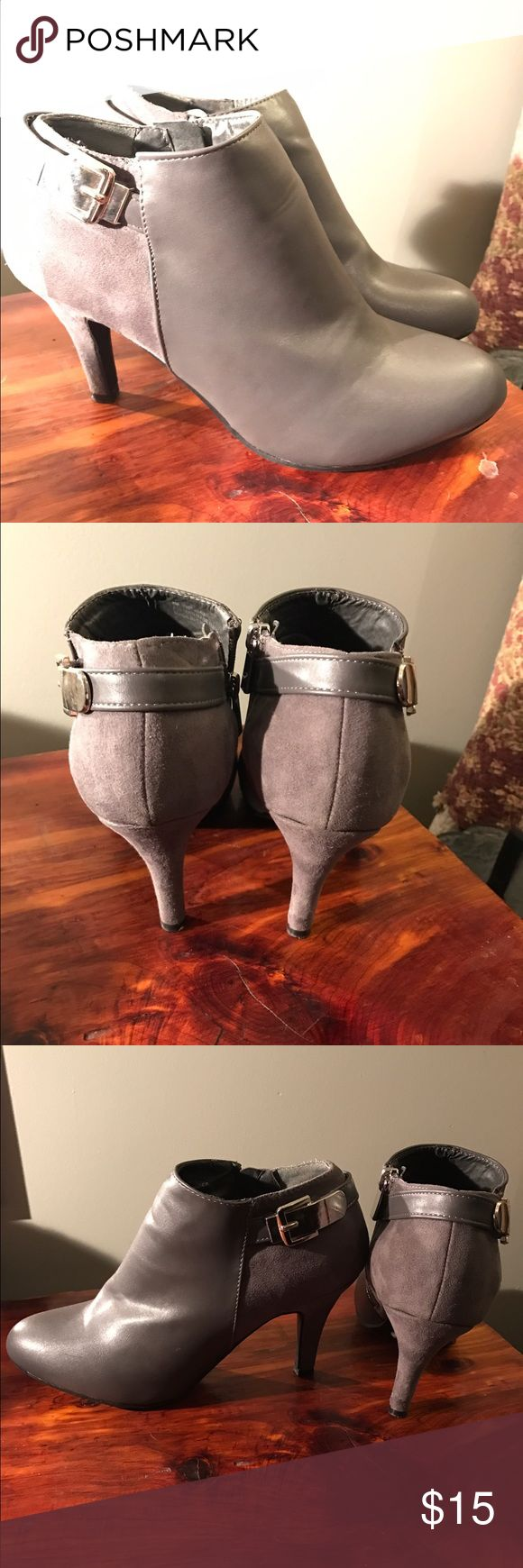 Grey high heels Only worn one time. Size 9. Light grey so they go with almost anything! Almost brand new! Make me an offer! Shoes Heels