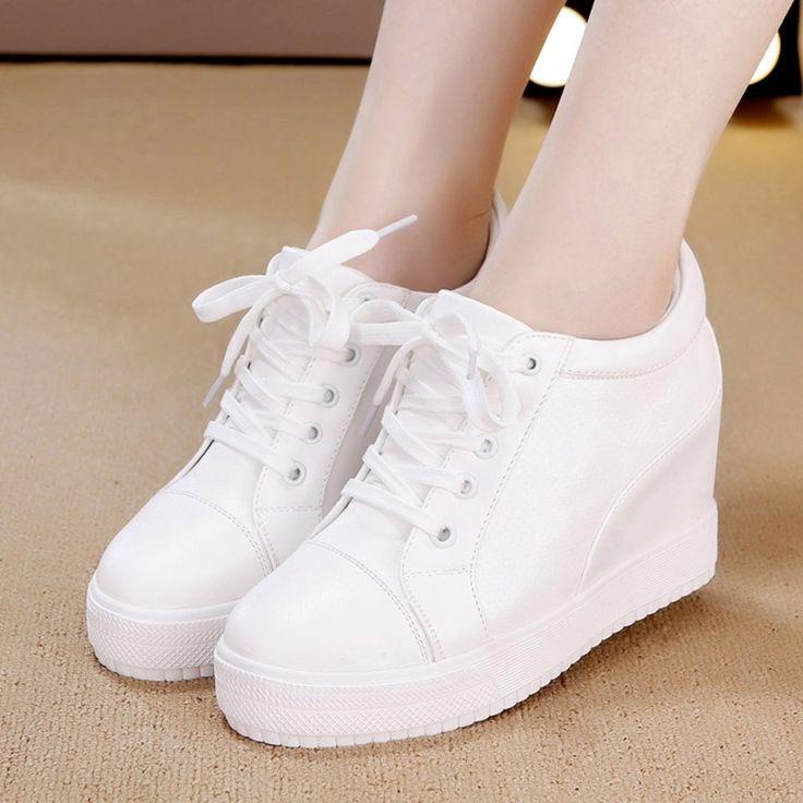 26.26$  Buy here - http://ali1mg.shopchina.info/go.php?t=32726055866 - WOLF WHO Women Shoes High Heels Casual Tenis Feminino Female Platform Krasovki Ladies Wedge Shoes x323 26.26$ #buymethat