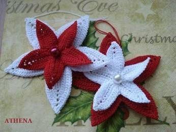 Háčkované vánoční hvězdy