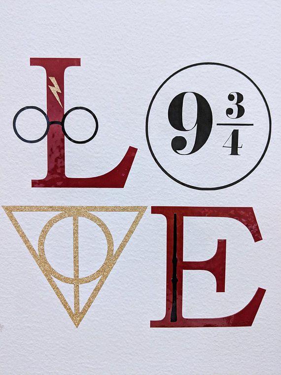Download Harry Potter L.O.V.E Version 2 SVG PNG File Only | Harry ...