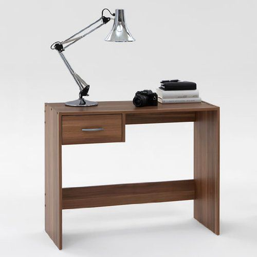 PAUL Dark Walnut Finish Office Desk / Study Table with Drawer by DMF: Amazon.co.uk: Kitchen & Home