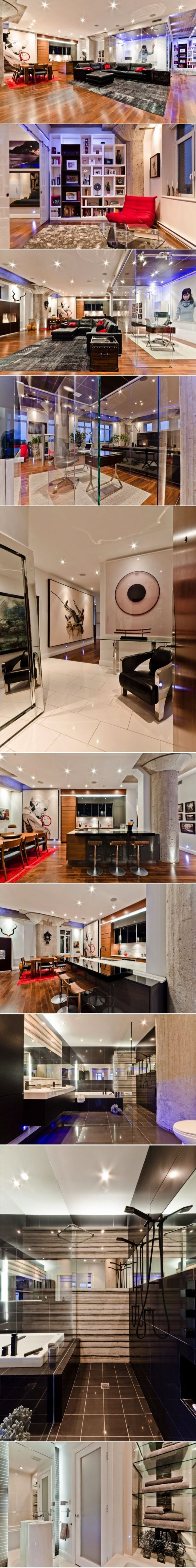 Old warehouse in montreal transformed into a dazzling contemporary - A Loft In Old Montreal By Actdesign