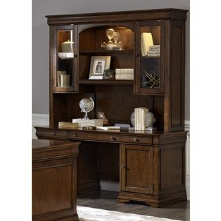 Shop For Chateau Valley Brown Cherry Jr. Executive Credenza And Hutch. Get Free  Delivery · Office Furniture StoresRustic ...