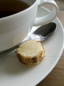 Macadamia and wattle seed shortbread