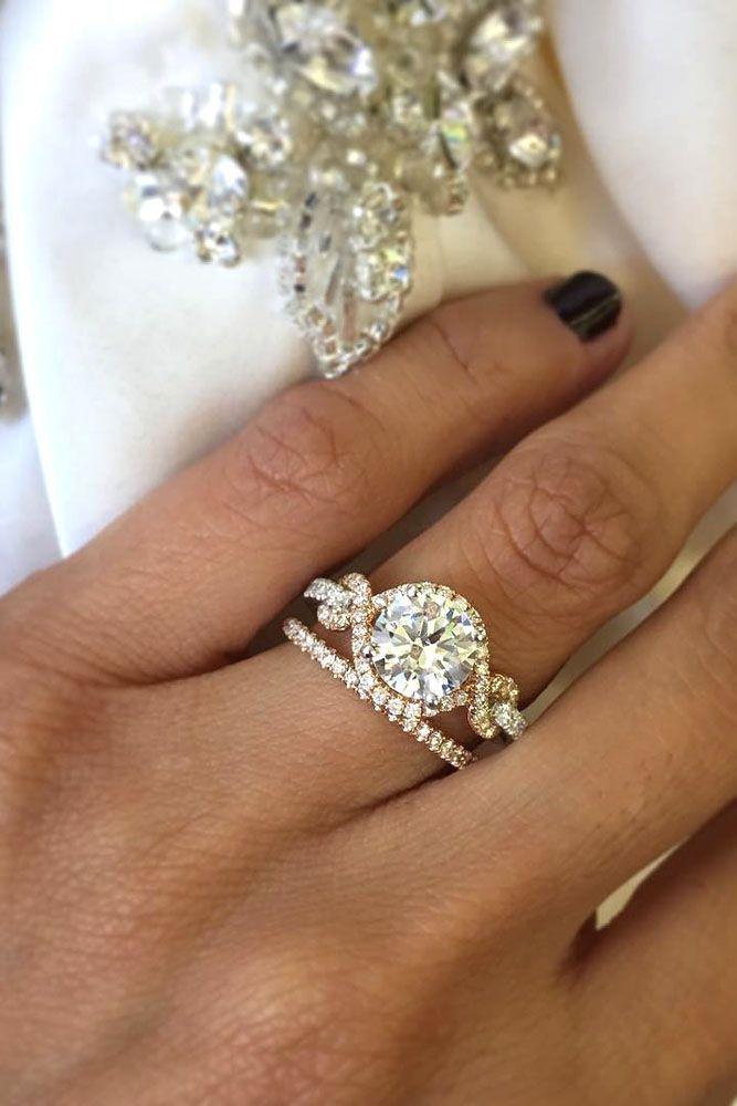 24 Wedding Ring Sets That Make The Perfect Pair ❤️ See more: http://www.weddingforward.com/wedding-ring-sets/ #wedding