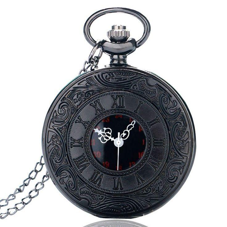 Black Unisex Fashion Pocket Watch