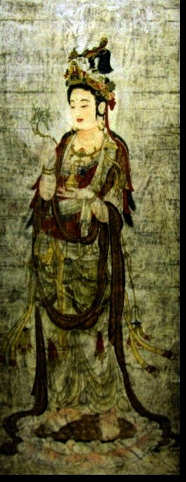 Chinese Kuan Yin, the bodhisattva of compassion who hears the cries of the world