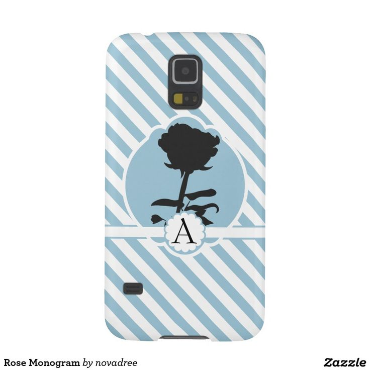 Rose Monogram Galaxy S5 Cases