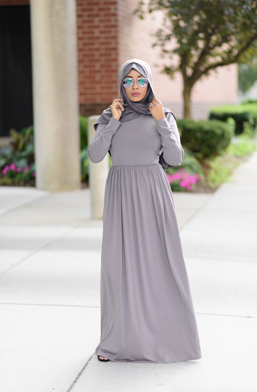 Gray Urban Hooded Maxi Dress