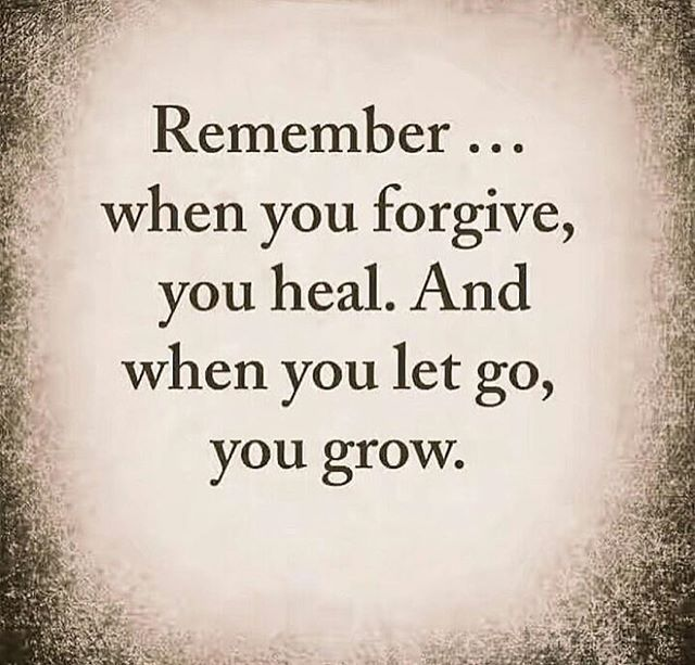 Forgiving is an important part of letting go of the past. Letting go of the past is essential to live in the present! The present is the only place we can take steps to make the future better!