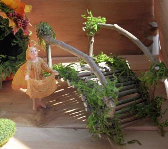 Fairy With Autumn Bridge ~ Handcrafted By Olive (Includes Heirloom Crab  Apple Fairy) Fairy