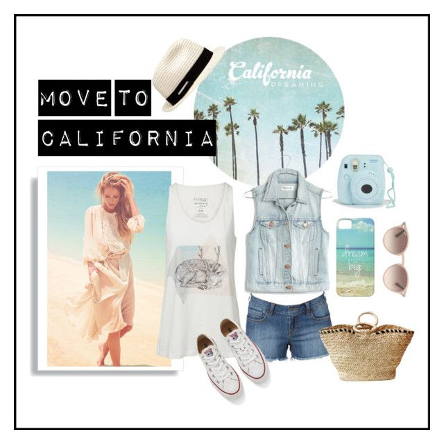 Move To California by chiara-arduino on Polyvore featuring Madewell, Converse, Indego Africa, David Jones, Ray-Ban, women's clothing, women's fashion, women, female and woman