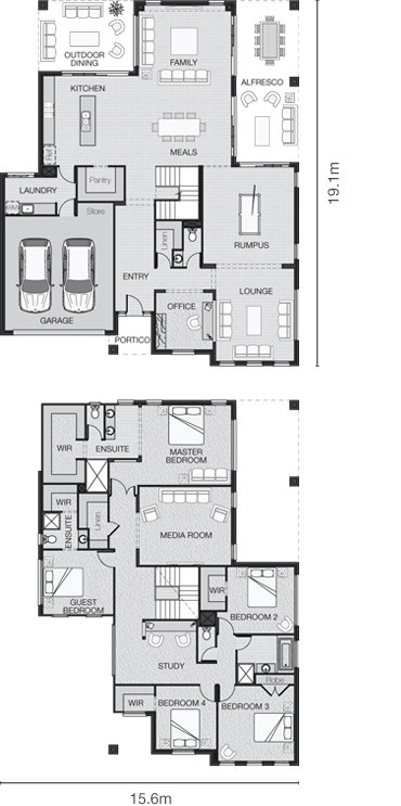 Standard floorplan for The Paterson