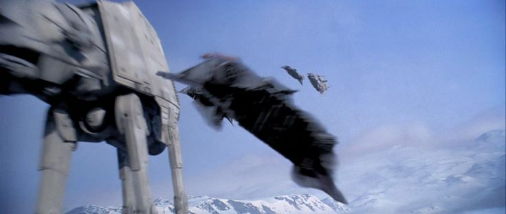 Screencap Gallery for Star Wars Episode V: The Empire Strikes Back (1980) (The Movies). Fleeing the evil Galactic Empire, the Rebels abandon their new base in an assault with the Imperial AT-AT walkers on the ice world of Hoth. Princess Leia,
