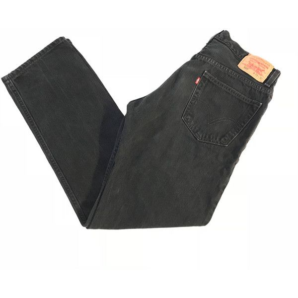 Vintage Black Levis Denim Jeans ($32) ❤ liked on Polyvore featuring jeans, levi jeans, regular fit jeans and vintage jeans