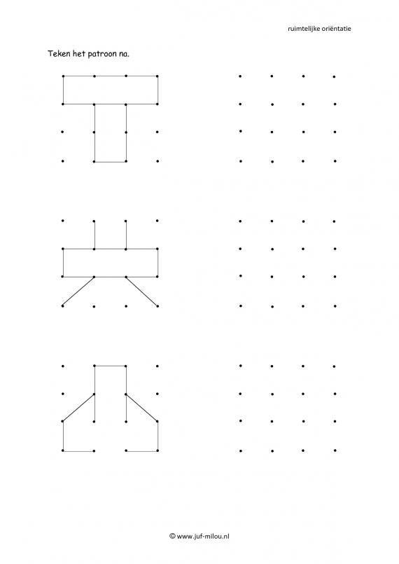 Dit werkblad en nog veel meer in de categorie ruimtelijke orientatie - natekenen kun je downloaden op de website van Juf Milou.